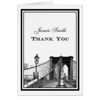 Cartão Obrigado da ponte de Brooklyn #2 da skyline de NYC
