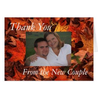 Cartão Obrigado da queda você