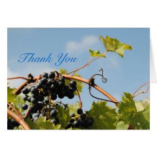 Cartão Obrigado da região vinícola você