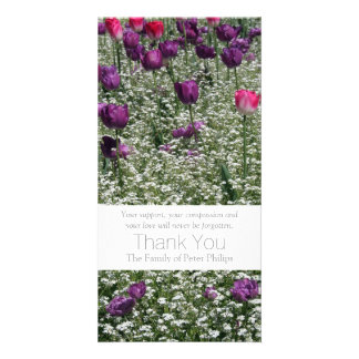 Cartão Obrigado da simpatia das tulipas do jardim 1 você