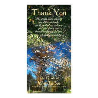 Cartão Obrigado da simpatia do outono da reflexão das