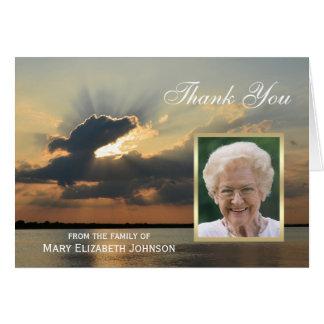 Cartão Obrigado da simpatia do por do sol você foto
