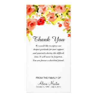 Cartão Obrigado da simpatia você aguarela memorável