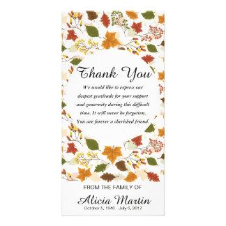 Cartão Obrigado da simpatia você folhas de outono