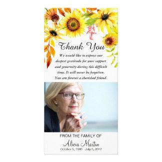 Cartão Obrigado da simpatia você girassóis florais