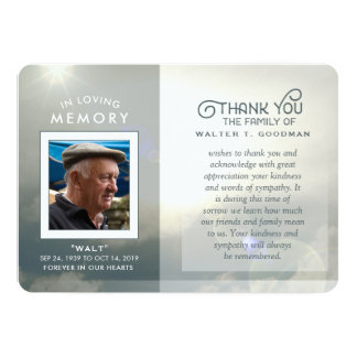 Cartão Obrigado da simpatia você nuvens calmas azuis &