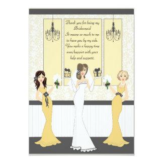 Cartão Obrigado dama de honra