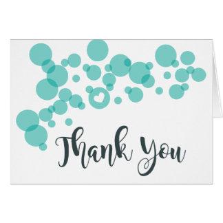 Cartão Obrigado das bolhas do bebê você cerceta