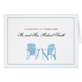 Cartão Obrigado das cadeiras de Adirondack você
