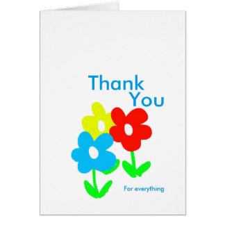 Cartão Obrigado das flores do primavera você para tudo
