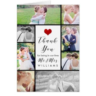 Cartão Obrigado das fotos do casamento de PixDezines você