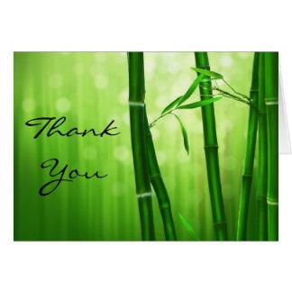 Cartão Obrigado de bambu verde você