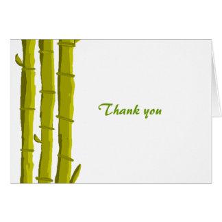 Cartão Obrigado de bambu você