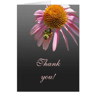 Cartão Obrigado de Coneflower você