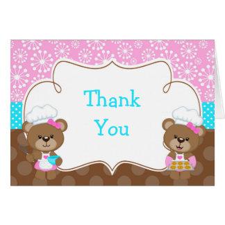 Cartão Obrigado de cozimento da festa de aniversário do