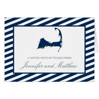 Cartão Obrigado de Eastham Cape Cod você