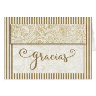 Cartão Obrigado de Gracias você vazio espanhol das