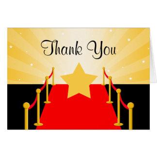 Cartão Obrigado de Hollywood do tapete vermelho você