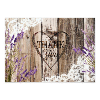 Cartão Obrigado de madeira rústico gravura a água-forte