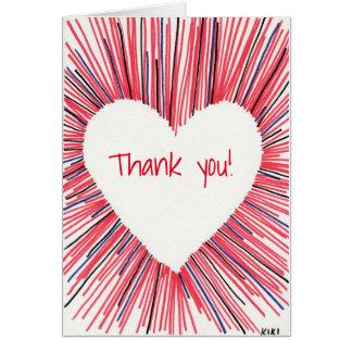 Cartão Obrigado de meu coração