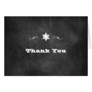 Cartão Obrigado de Mitzvah do bastão do quadro você