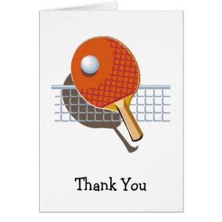 Cartão Obrigado de Pong do sibilo do ténis de mesa você