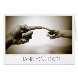 Cartão Obrigado dia dos pais do pai