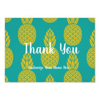 Cartão Obrigado do abacaxi você