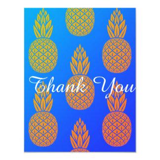 Cartão Obrigado do abacaxi você Miami