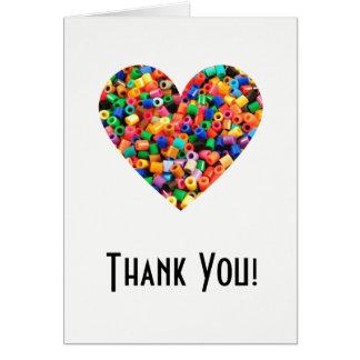 Cartão Obrigado do amante do grânulo você