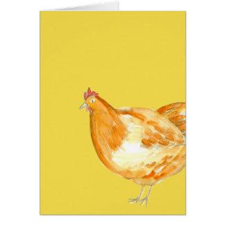 Cartão Obrigado do amarelo da galinha da galinha você