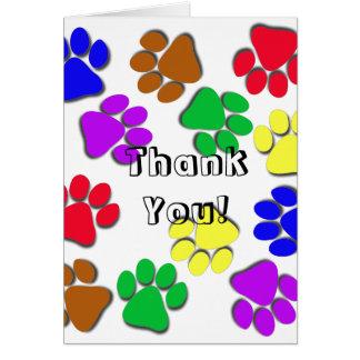 Cartão - obrigado, do animal de estimação