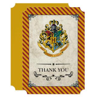 Cartão Obrigado do aniversário de Harry Potter | Hogwarts