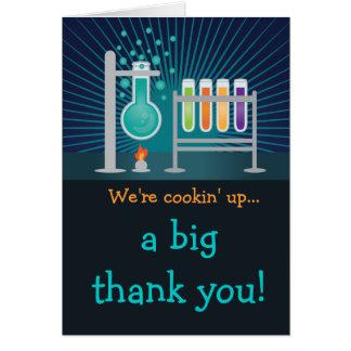 Cartão Obrigado do aniversário do laboratório de ciência