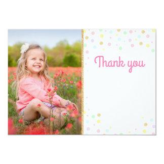 Cartão Obrigado do aniversário você vazio cor-de-rosa dos