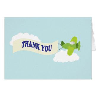 Cartão Obrigado do avião você