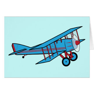Cartão Obrigado do avião você para o presente