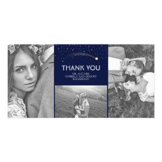 Cartão Obrigado do casamento da estrela de tiro do