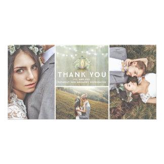 Cartão Obrigado do casamento da lanterna e da respiração