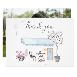 Cartão Obrigado do casamento de Paris você foto