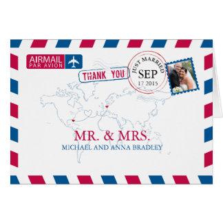 Cartão Obrigado do casamento do correio aéreo de FLORIDA