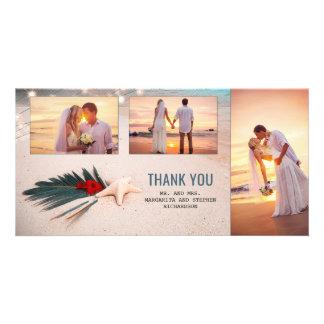 Cartão Obrigado do casamento do destino você