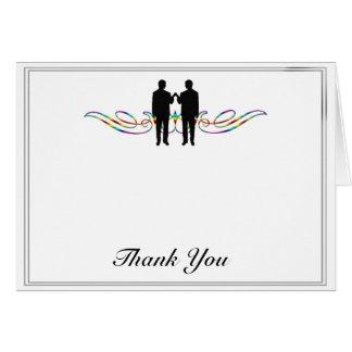 Cartão Obrigado do casamento do noivo da elegância do