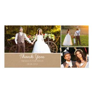 Cartão Obrigado do casamento do papel de embalagem Você