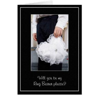 Cartão Obrigado do casamento do portador de anel você ou