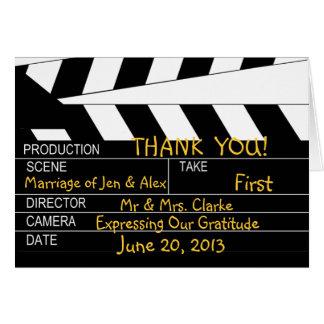 Cartão Obrigado do casamento do tema do filme você