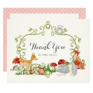 Cartão Obrigado do chá de fraldas do conto de fadas da
