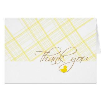 Cartão Obrigado do chá de fraldas você - borracha Ducky