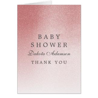 Cartão Obrigado do chá de fraldas você brilho cor-de-rosa
