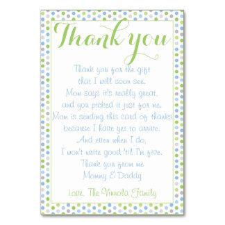 Cartão Obrigado do chá de fraldas você do bebê